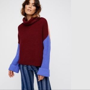 Free people park city cowl neck sweater